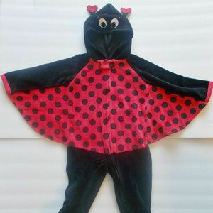 Ladybug Costume Hoodie Infant Girls 6-9 Months
